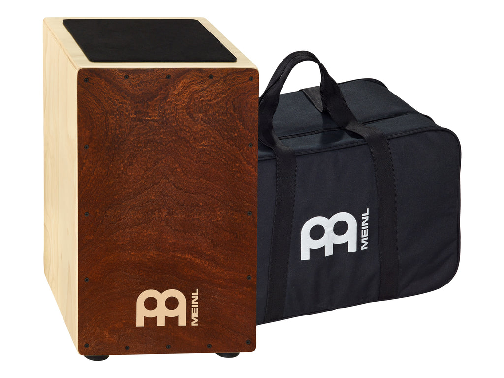 Meinl CAJ3FM-M BAG Traditional String Cajon With Figured Mahogany Frontplate Bag Included