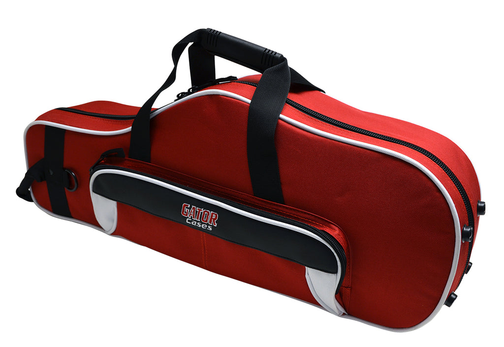 Gator GL-ALTOSAX-WR Spirit Series Lightweight Alto Saxophone Case, White And Red