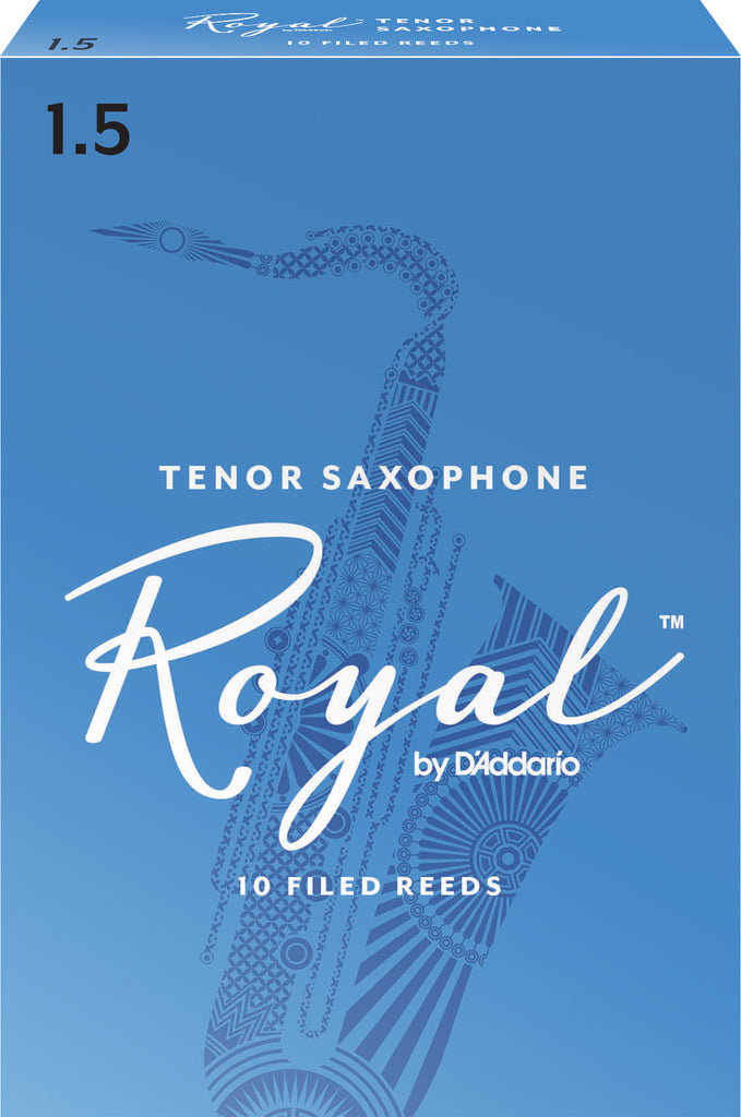 D'Addario RKB1015 Rico Royal Tenor Sax Reeds, Strength 1.5, 10-Pack