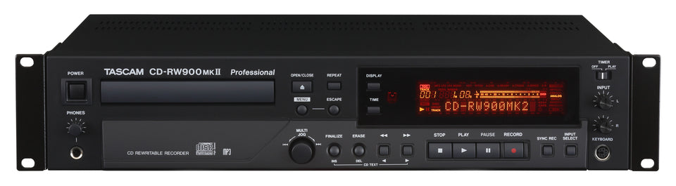 Tascam CD-RW900 MKII CD Recorder/Player