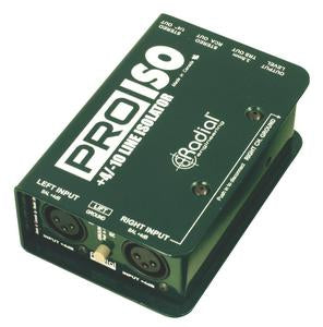 Radial Engineering PRO ISO Stereo 4dB to -10dB Converter with Transformers