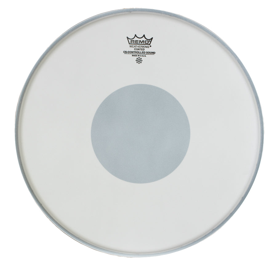 "Remo 14"" Coated Controlled Sound Drum Head With Black Dot"