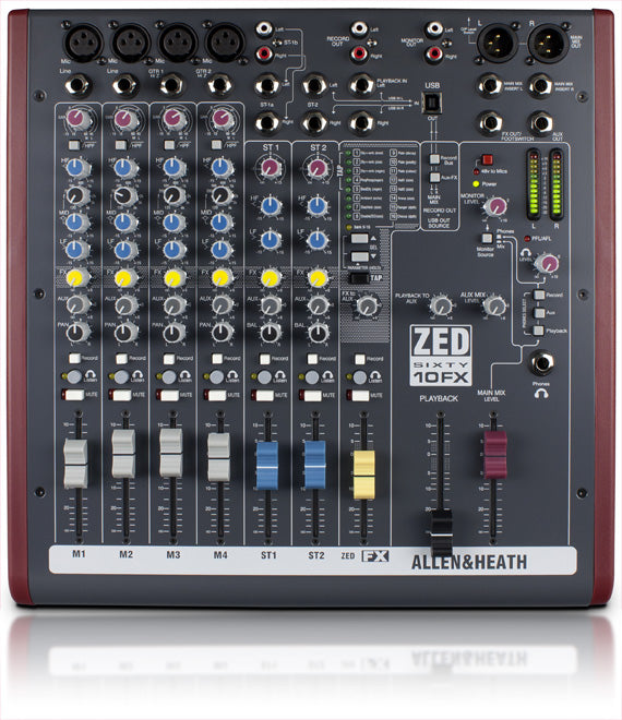 Allen & Heath ZED60-10FX Multipurpose Mixer W/ FX