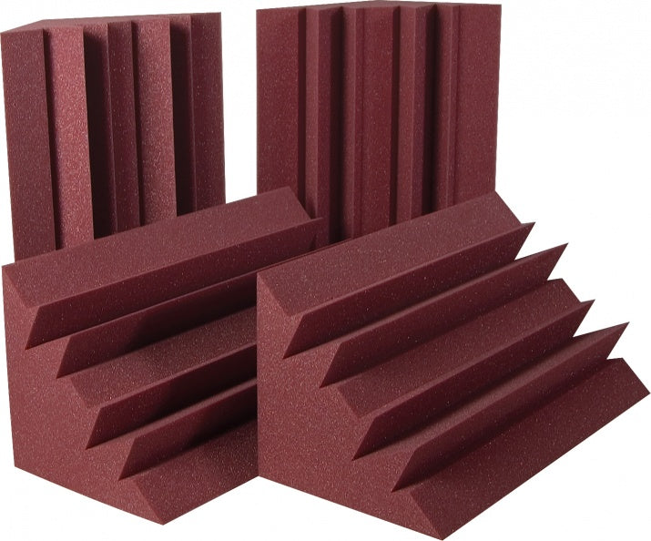 "AURALEX ACOUSTICS LENBUR LENRD Bass Traps - Burgundy (Set Of 8) - 12"" x 24"" x 24"""