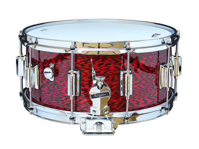"Rogers 14"" x 6.5"" Dyna-Sonic Classic Snare Drum w/ Beavertail Lugs - Red Onyx"