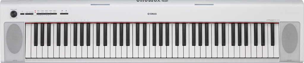 Yamaha NP32 Piaggero Digital Piano Bundle With SK D2 - White