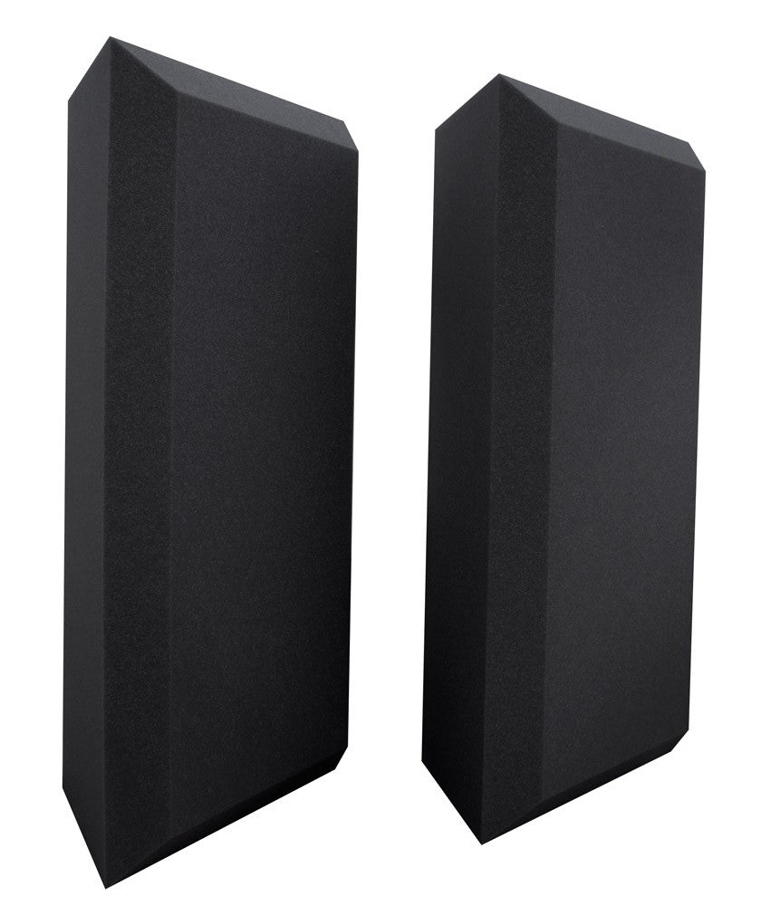 Ultimate Support UA-BTBV Professional Bevel W/ Vinyl Acoustic Bass Traps - Black (Pair)