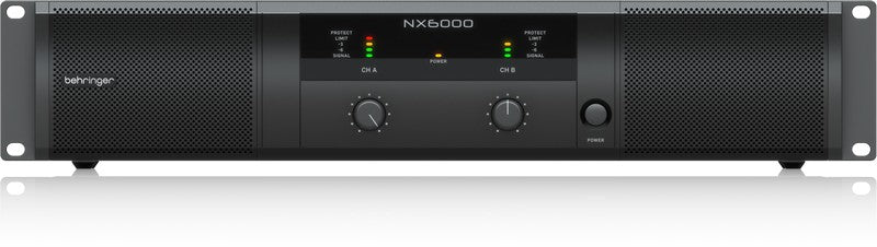 Behringer NX6000 Lightweight 6000W Power Amplifier w/ SmartSense Loudspeaker Impedance Compensation