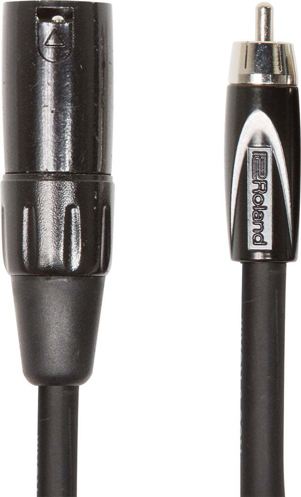 Roland RCC-10-RCXM XLR Male to RCA Cable - 10 ft