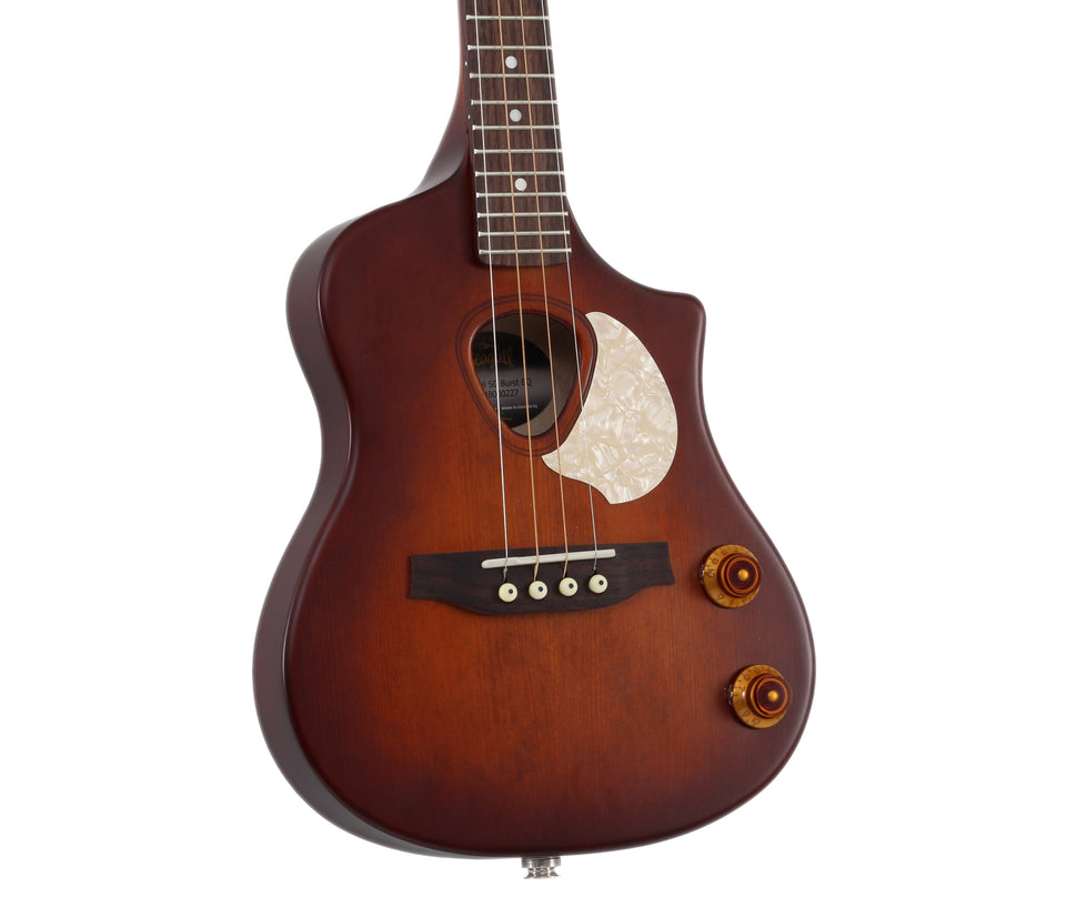 Seagull Uke Steel String SG Burst EQ Acoustic Electric Soprano Ukulele - Burnt Umber