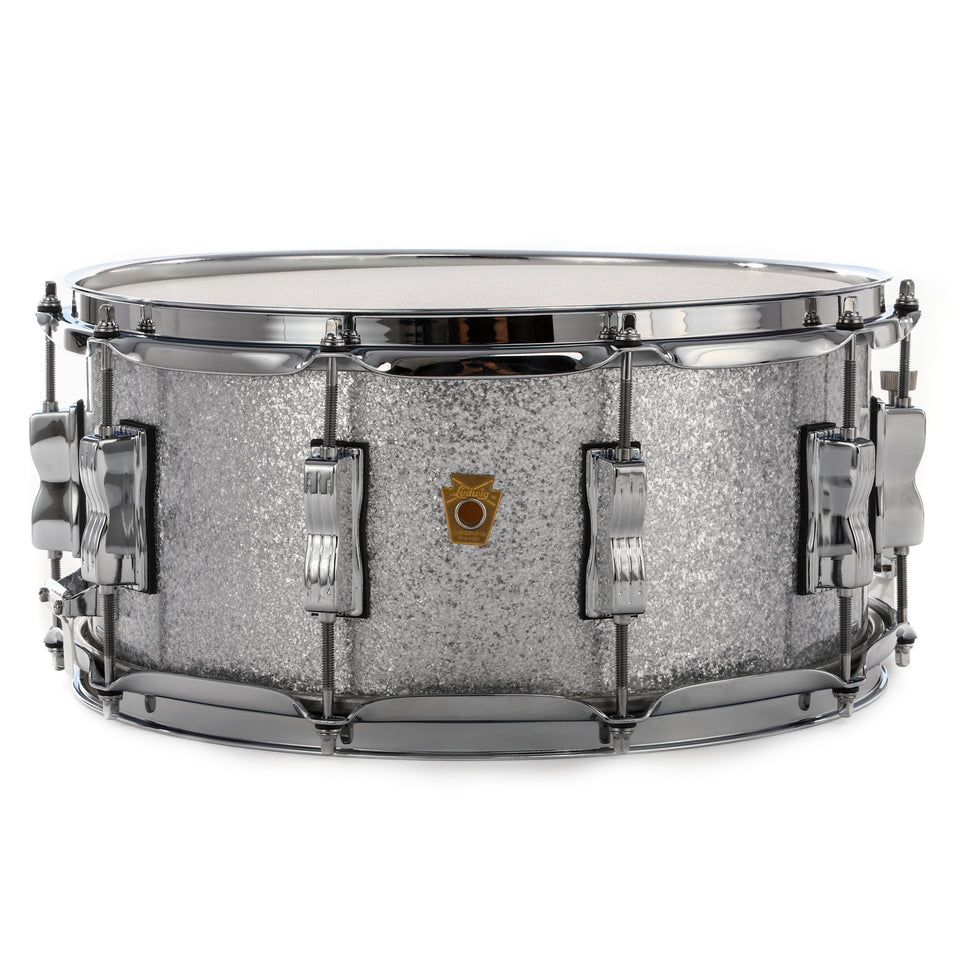 "Ludwig 14"" x 6.5"" Legacy Series Maple/Poplar Snare Drum - Silver Sparkle"