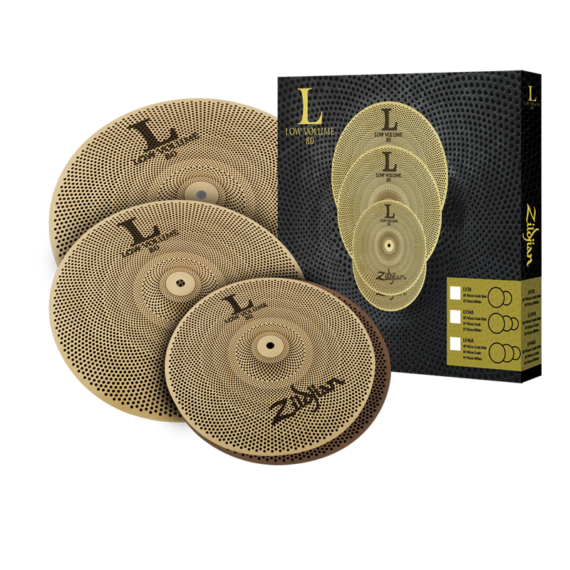 "Zildjian L80 Low Volume 14""/16""/18"" Cymbal Set"