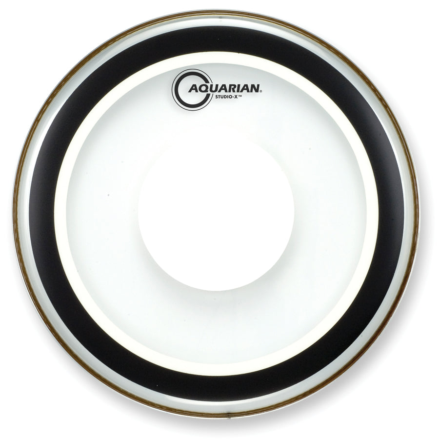 "Aquarian 14"" Studio-X Drum Head With Power Dot"