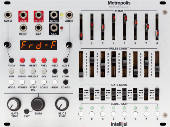 Intellijel Metropolis Complex Multi-Stage Pitch and Gate Sequencer