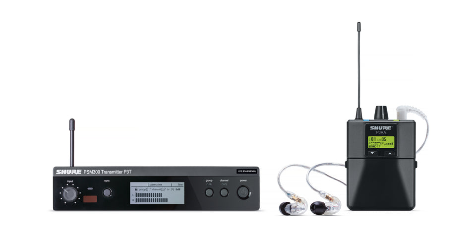 Shure P3TRA215CL-H20 Wireless Monitor System W/ Bodypack & Earphones - H20 Band