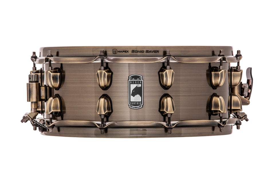 "Mapex 14"" x 5.5"" Black Panther Series Snare Drum Brass Cat"
