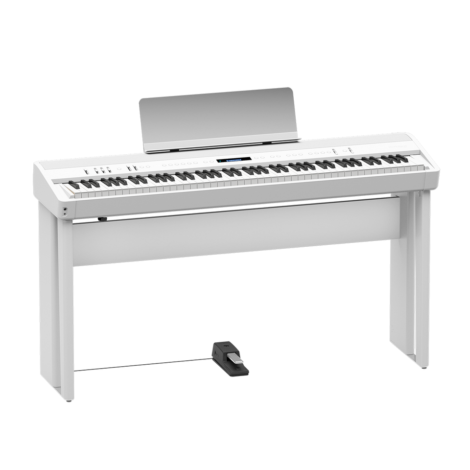 Roland FP-90 Digital Piano W/ KSC-90-WH, KPD-90-WH- White Classic