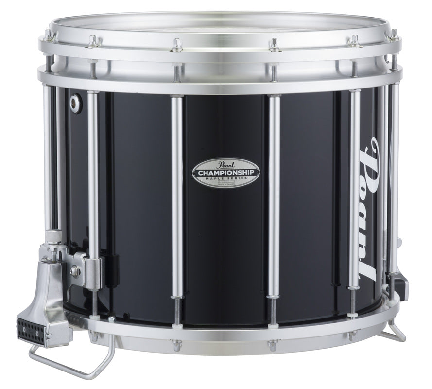 "Pearl FFXM1412 14"" x 12"" Championship Maple Marching Snare Drum - Midnight Black"