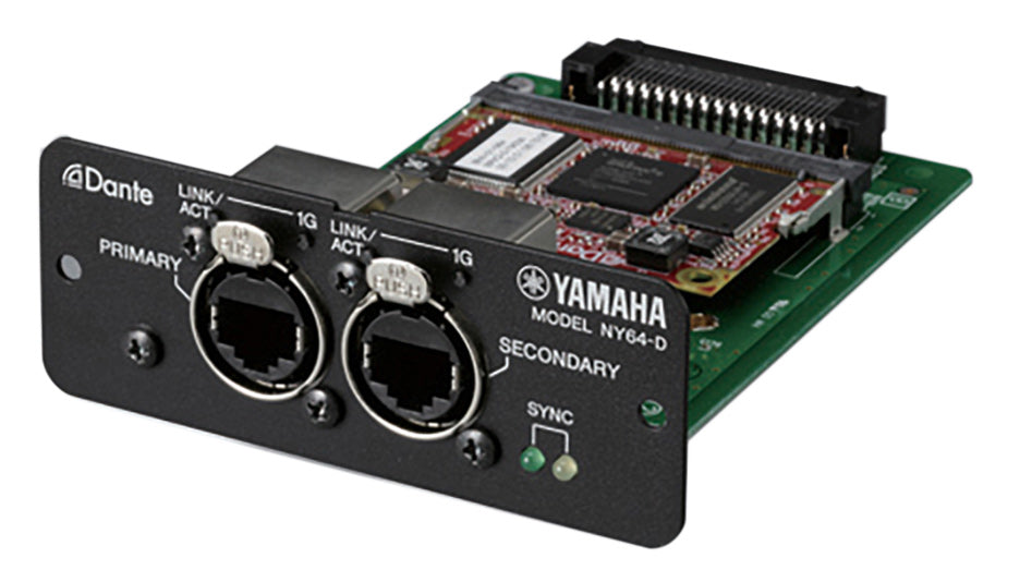 Yamaha NY64-D Dante I/O Expansion Card For TF Consoles