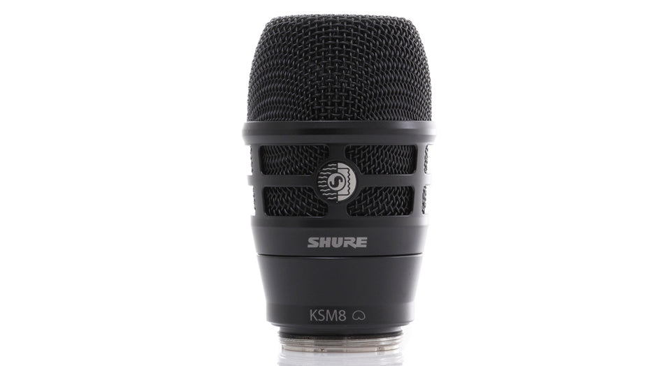 Shure RPW174 KSM8 Dualdyne Cardioid Dynamic Wireless Microphone Capsule - Black Finish