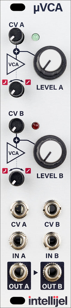 Intellijel uVCA II Two Channel Exponential/Linear VCA Module