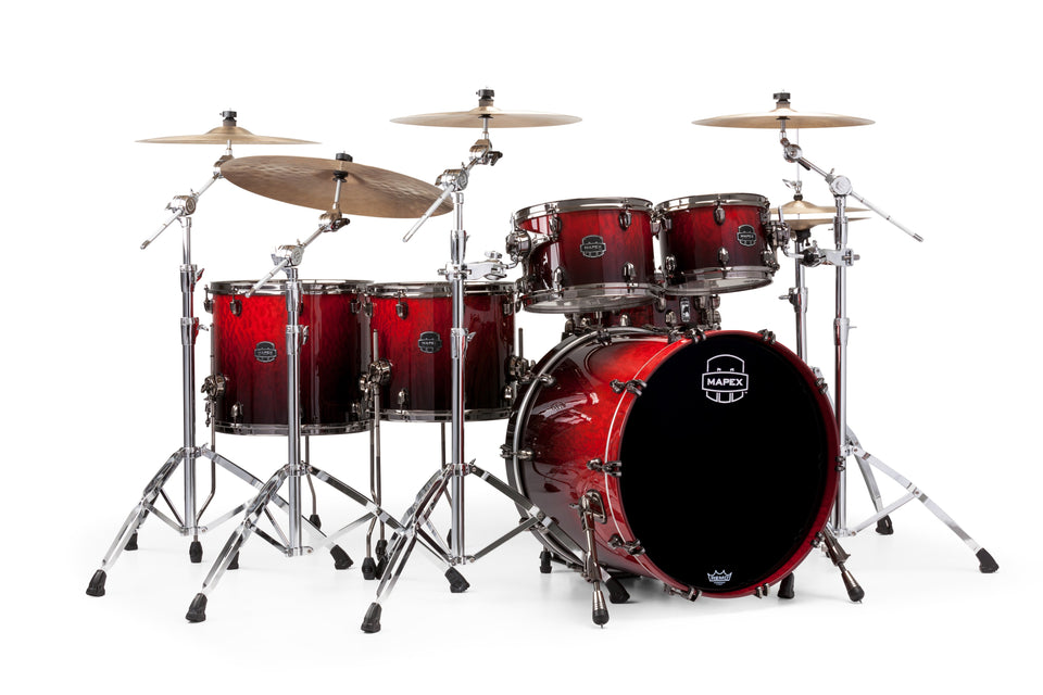 Mapex Saturn V MH Exotic Studioease 5 Piece Drum Set Shell Pack - Cherry Mist Maple Burl