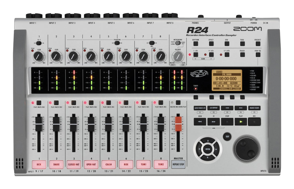 Zoom R24 Multitrack Recorder, Interface, Controller, & Sampler