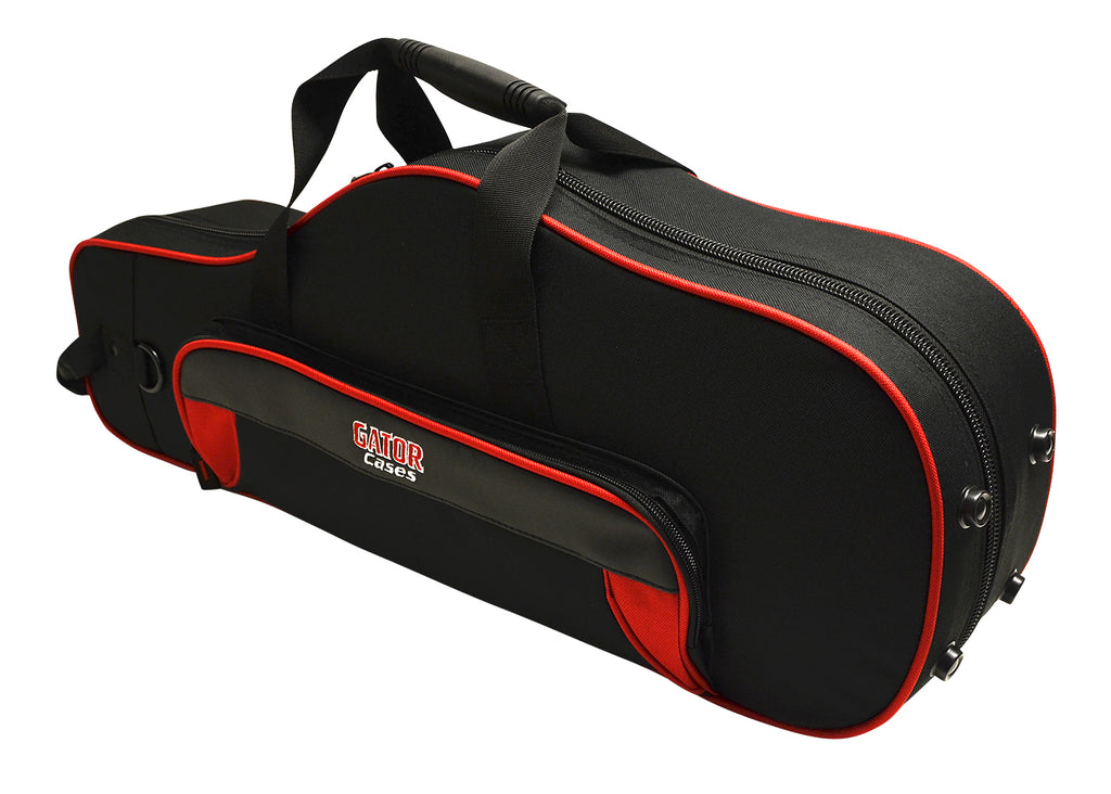 Gator GL-ALTOSAX-RK Spirit Series Lightweight Alto Saxophone Case, Red And Black