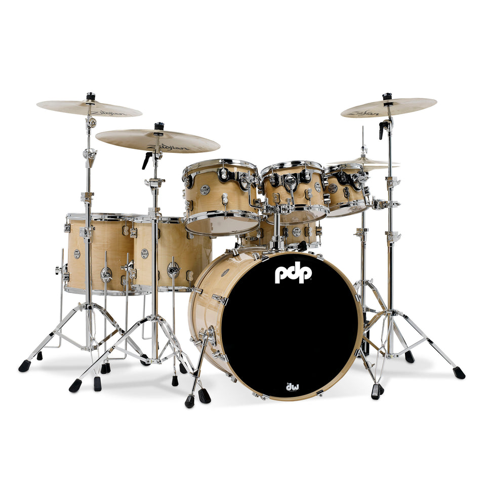 "PDP Concept Maple 7-Piece 22"" Lacquer Shell Pack"
