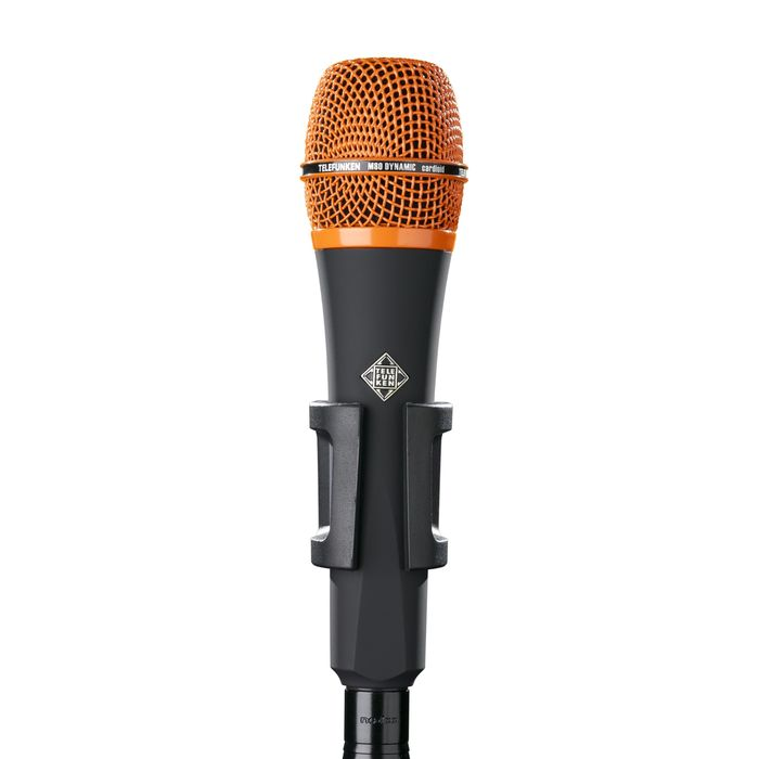 Telefunken Elektroakustik M80 Custom Dynamic Microphone - Black With Orange