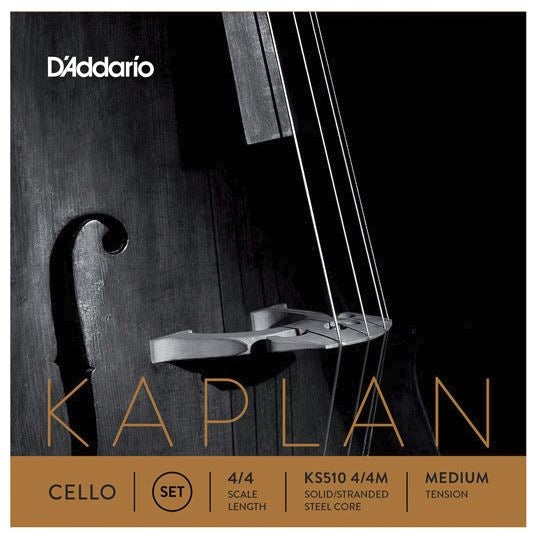 D'Addario Orchestral KS510 4/4M Kaplan Cello String Set, 4/4 Scale, Medium Tension