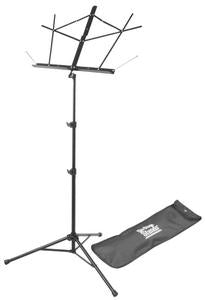 On Stage SM7222BB Tubular Tripod Base Sheet Music Stand (Black, with Bag)