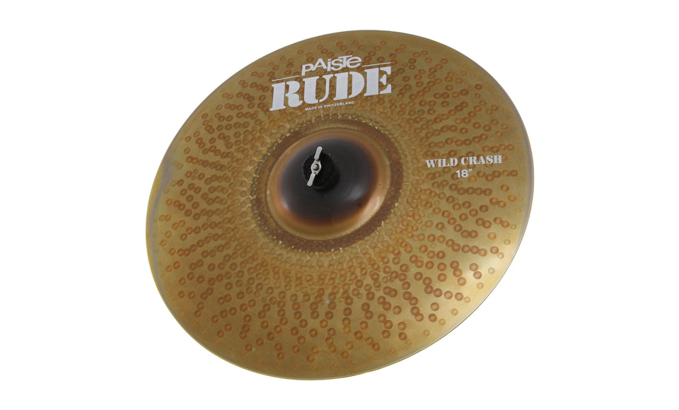 "Paiste 18"" Rude Wild Crash Cymbal"