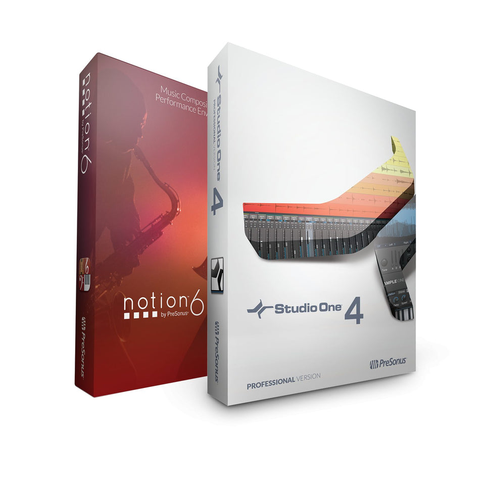 PreSonus Studio One 4 Professional / Notion Bundle / Digital Software