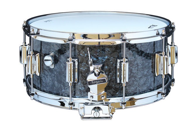 "Rogers 14"" x 6.5"" Dyna-Sonic Classic Snare Drum w/ Beavertail Lugs - Black Diamond Pearl"
