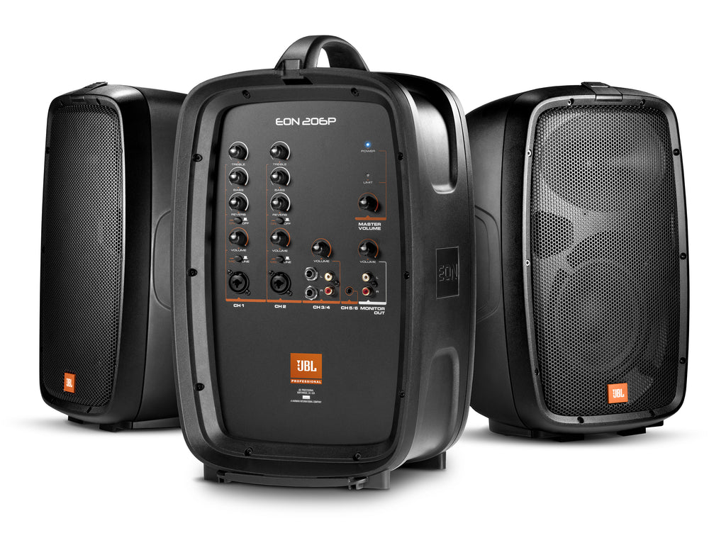 "JBL EON206P Portable 6.5"" Two-Way Personal PA System With Powered Mixer"