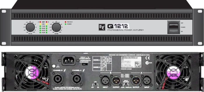 Electro-Voice Q1212 Q Series Professional Power Amplifier w/3600 Watts Max into 4 Ohms