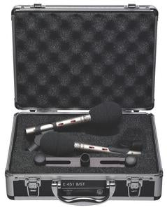 AKG C451B/ST Stereo Matched Pair Of C451B Small-Diaphragm Condenser Microphones