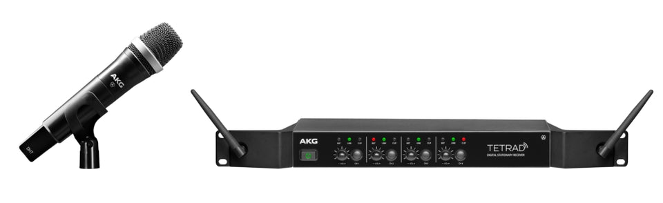 AKG DMSTetrad Quad Receiver Digital Handheld Wireless System With -1 D5 Handheld Microphone