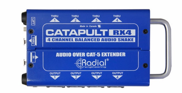 Radial Catapult RX4 4-Channel Cat 5 Audio Snake - Receiver