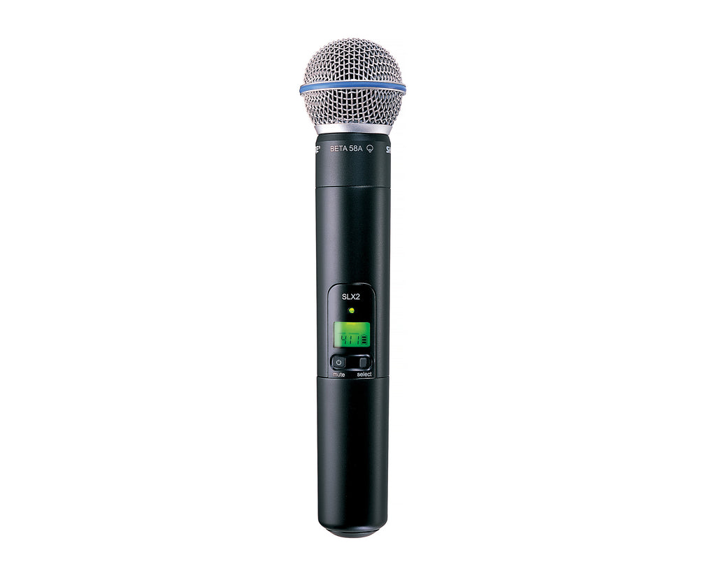 Shure SLX2/BETA58 Handheld Wireless Microphone Transmitter - J3