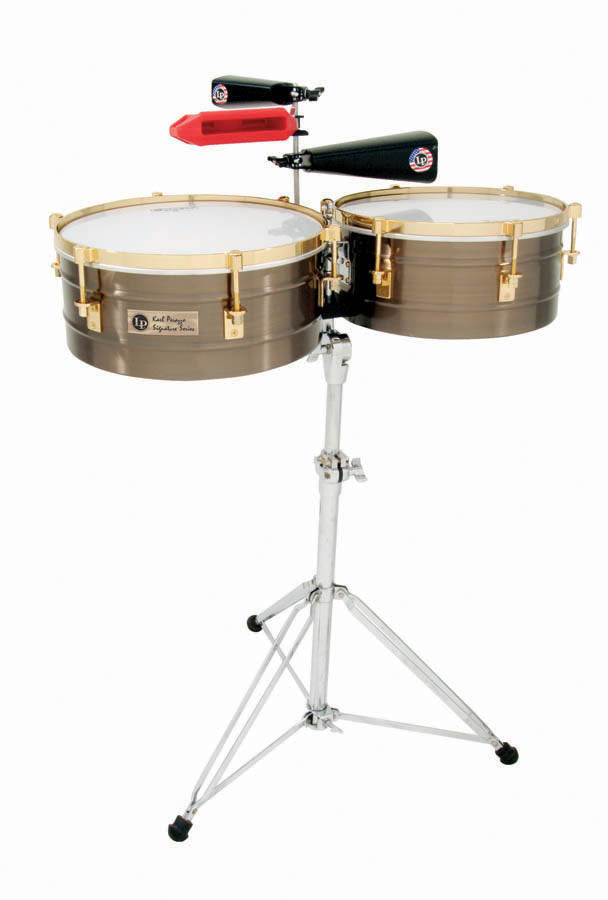 LP LP257-KP Karl Perazzo Signature Series Timbales/Antique Bronze With Gold Hardware
