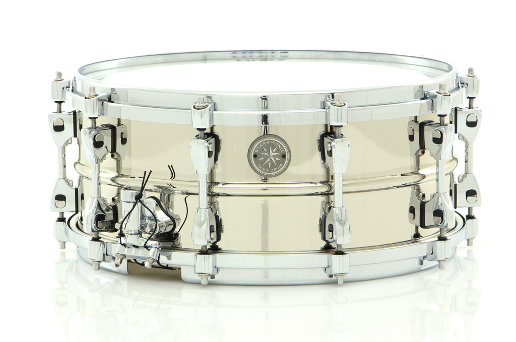 "Tama 14"" x 6"" Starphonic Brass Snare Drum Polished Chrome Finish"