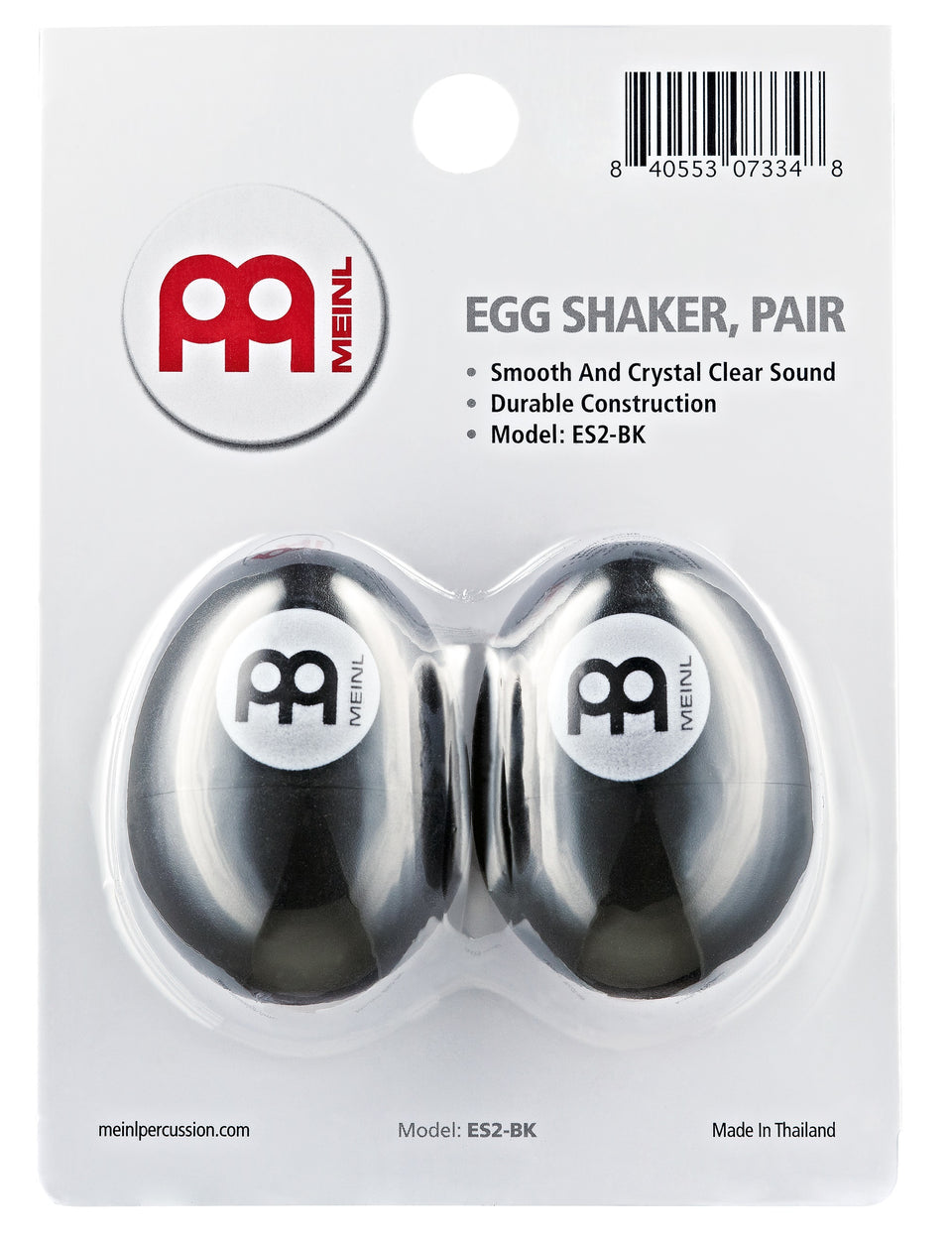 Meinl ES2-BK Egg Shaker Pair, Black