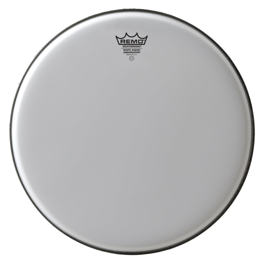 "Remo 13"" White Suede Ambassador Drum Head"