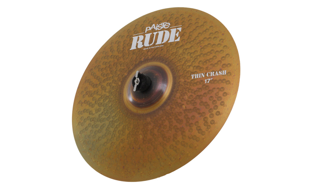 "Paiste 17"" Rude Thin Crash Cymbal"