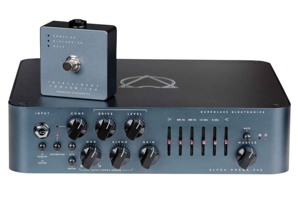 Darkglass Electronics Alpha Omega 900 900W Bass Amp Head & Footswitch