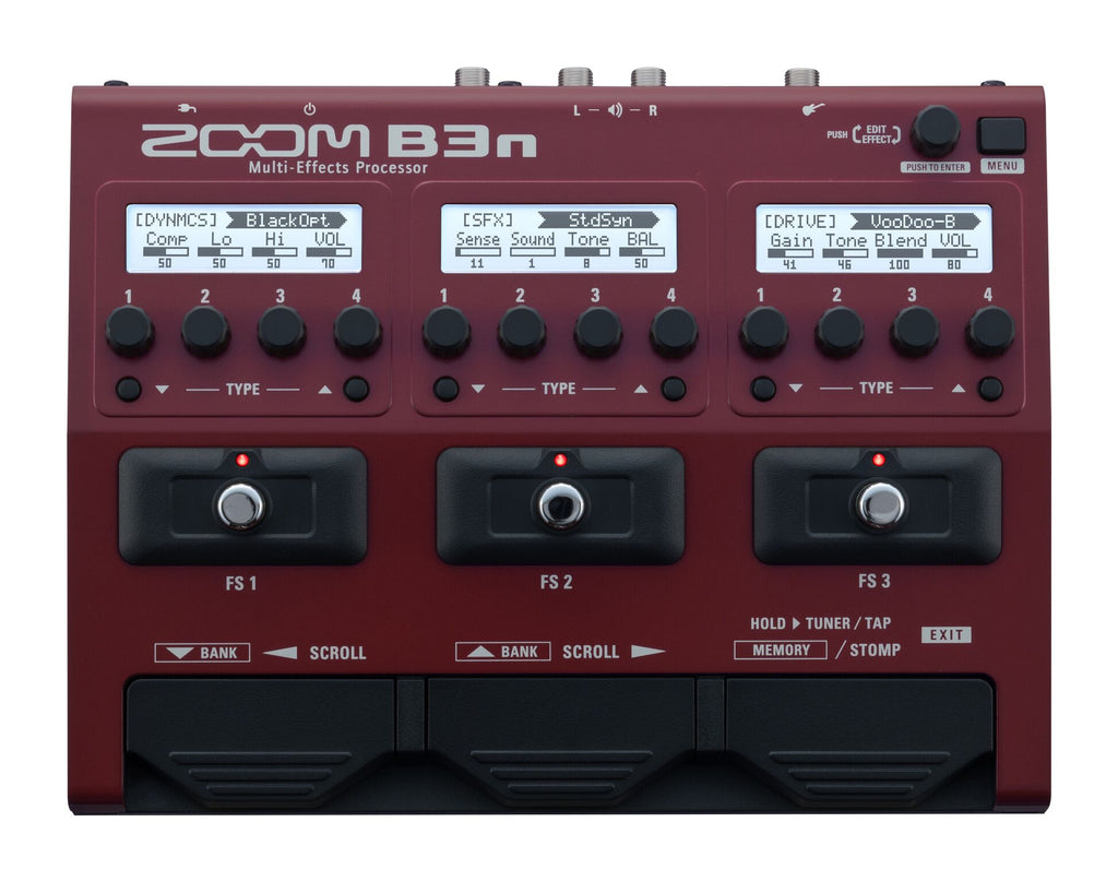Zoom B3n Multi Effects Bass Pedal