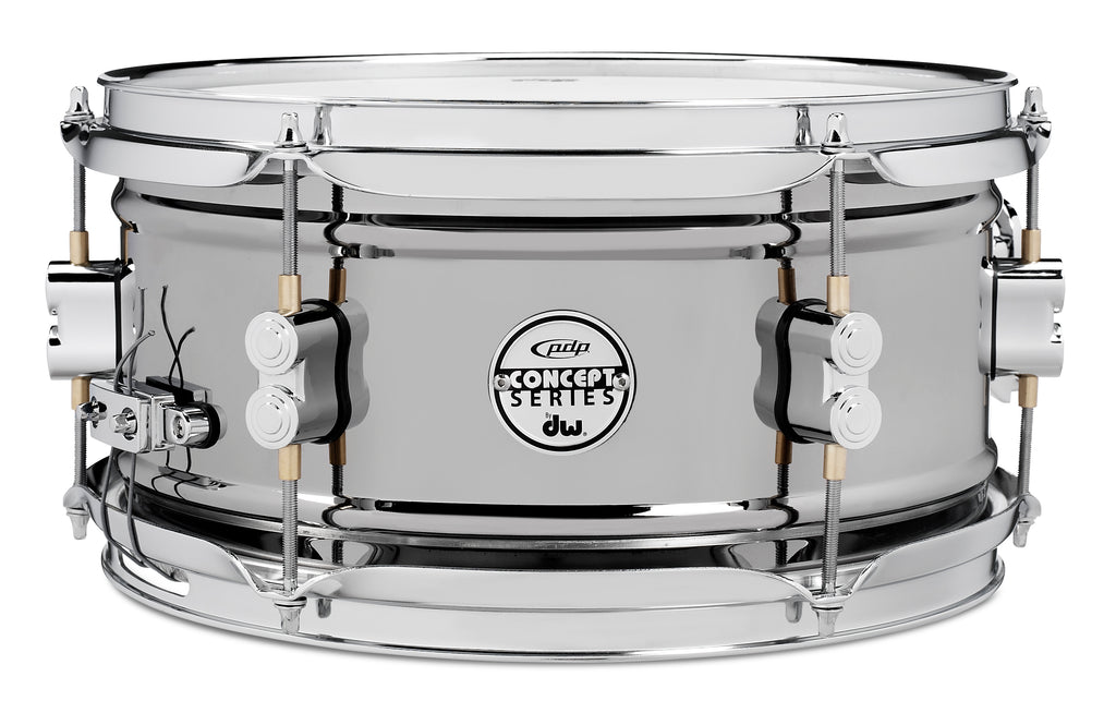 "PDP PDSN0612BNCR 12"" x 6"" Concept Series Snare Drum - Black Nickel Over Steel"