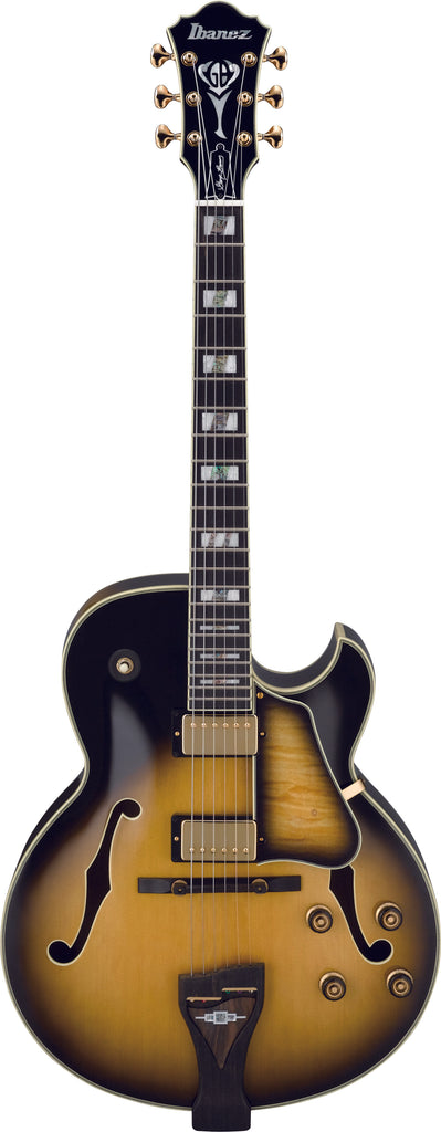 Ibanez LGB30 GB George Benson Series Hollow Body Electric Guitar - Vintage Yellow Sunburst